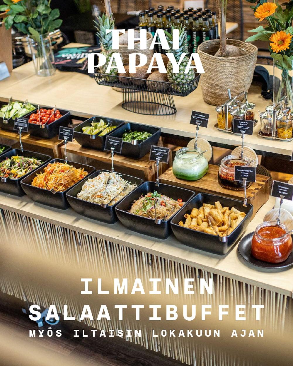 Ilmainen salaattibuffet